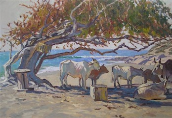 Ghost Cattle 24x36 sold