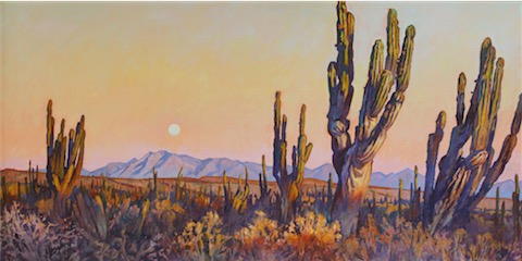 Moonrise in December 36x72 sold