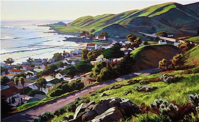 Cayucos in Winter 30x60 sold