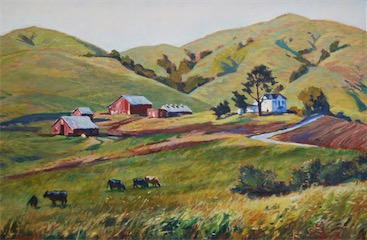 Red Hill Ranch Point Reyes 16x24 sold