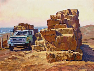 Truck Hay Bales, Point Reyes 18x24 sold